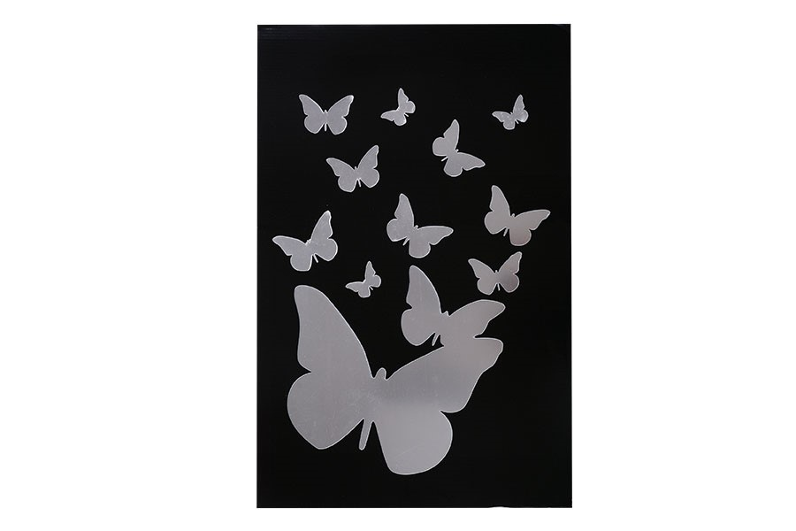 Öntapadó TÜKÖR pillangók
