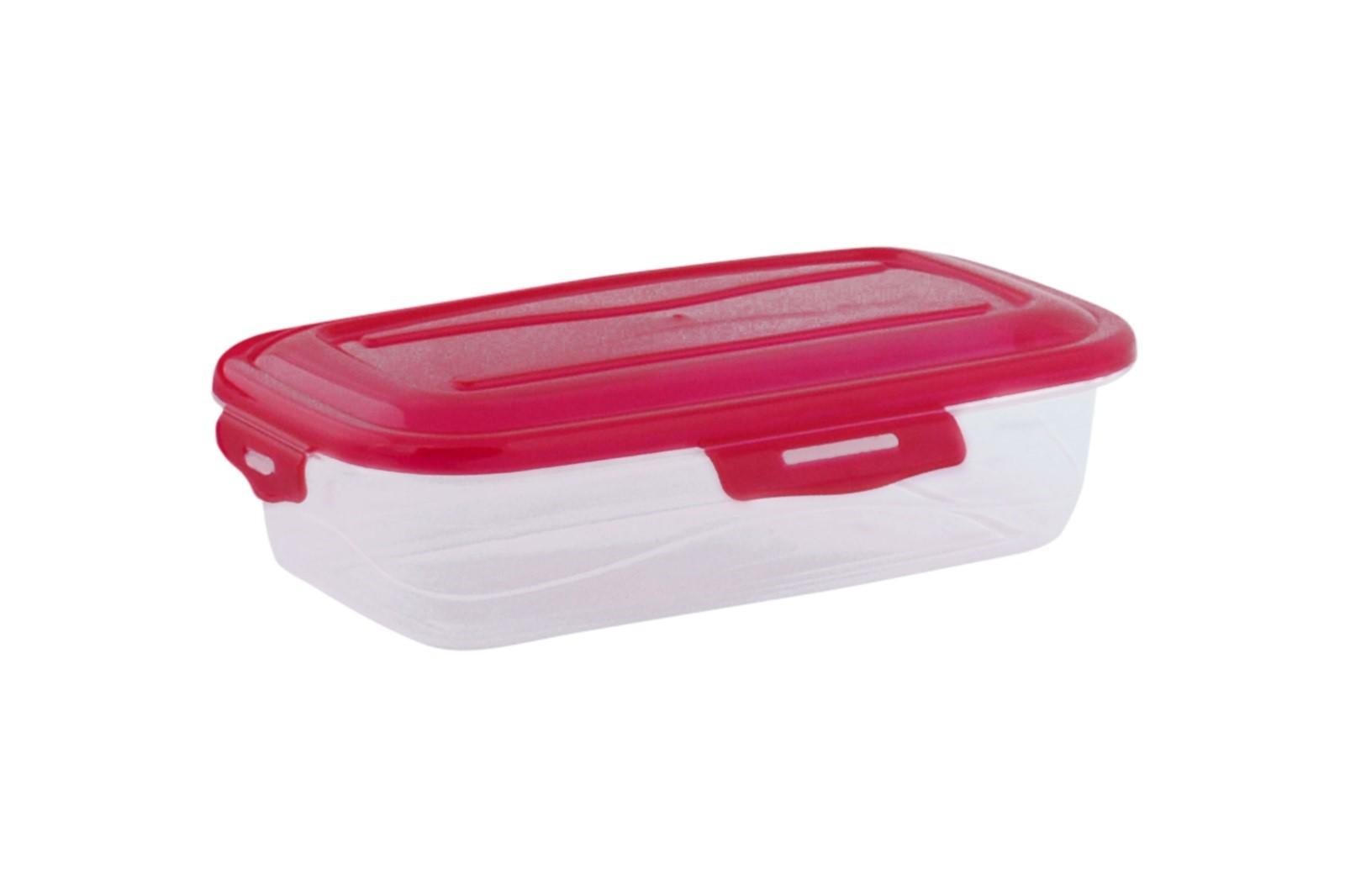 Műanyag tárolóedény RUBY 0,5 l málnaszínű