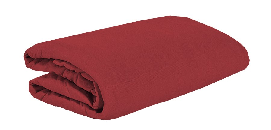 TOP Q jersey lepedő magasított matracra BORVÖRÖS 90x200 cm