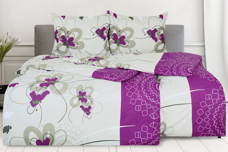 Mikroszálas ágyneműhuzat pamuthatású ENEGA lila