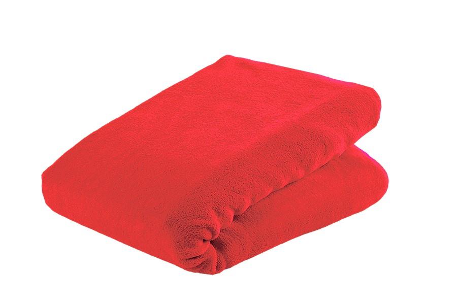 Lepedő mikroplüssből MOA 90x200 cm piros