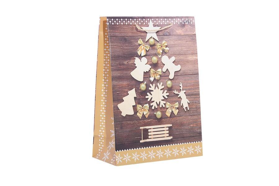 Karácsonyi táska L KARÁCSONYFA barna