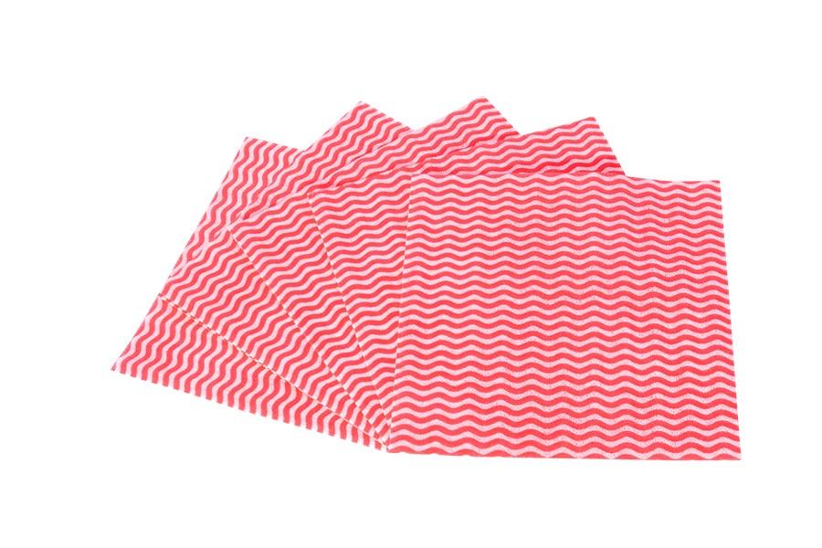 Konyha törlőkendő KARA piros 5db