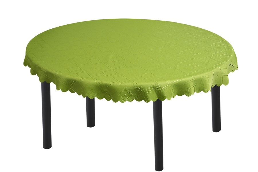 Zsakard gömbölyű terítő KUBE zöld 140 cm