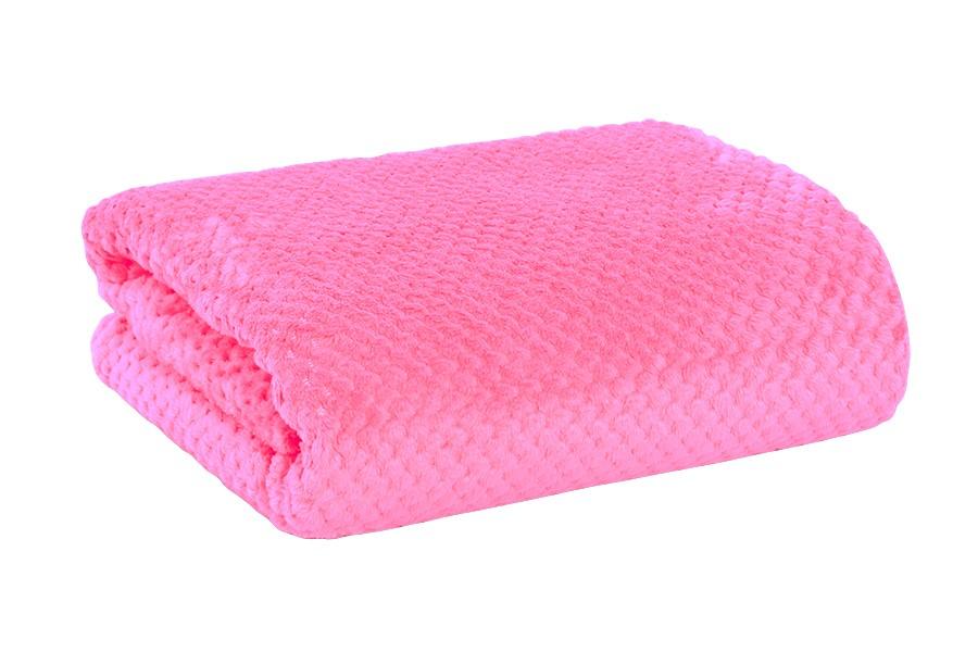 Jacquard takaró RONA málna színű