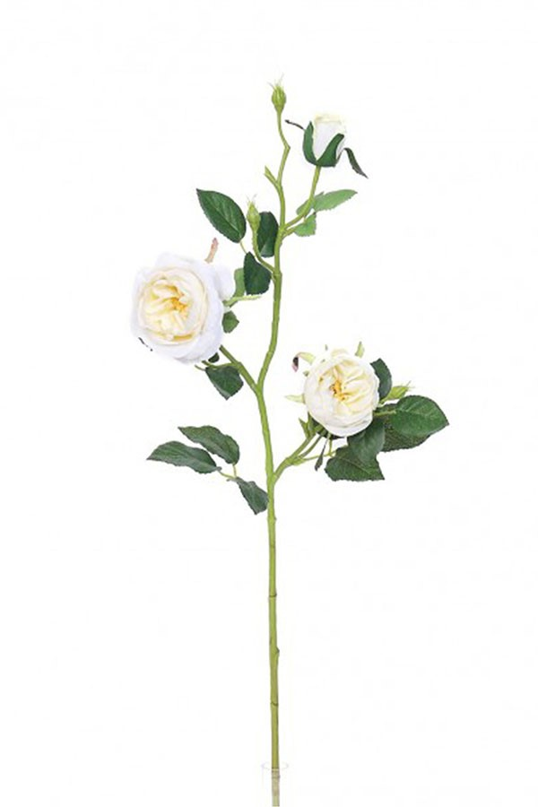 Művirág ANGOL RÓZSA fehér