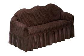 KORINA gumírozott huzat kanapéra barna