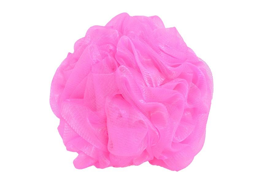 Masszázs fürdőpamacs  DELUXE rózsaszín