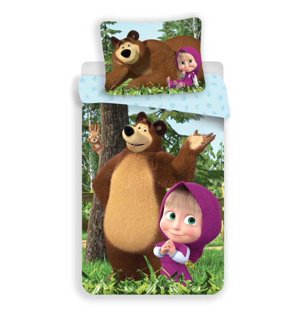 Gyerek ágyneműhuzat MÁSA ÉS A MEDVE az erdőben