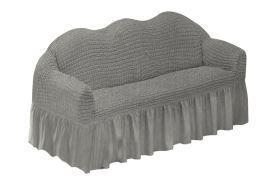KORINA gumírozott huzat kanapéra szürke